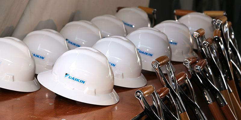 Daikin breaks ground at new location in Waller, Texas.