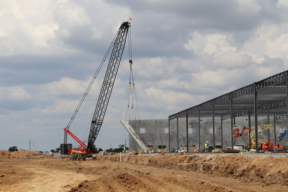 Construction is progressing at the Daikin Texas Technology Park.